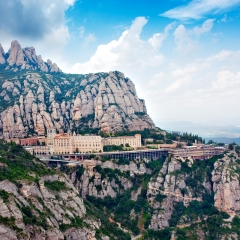 The sacred mountain of Montserrat